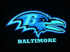 Baltimore Ravens NFL Sound-Activated LIGHTS UP LED T-Shirt ALL SIZES Wireless