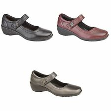 Mod Comfys Womens/Ladies Leather Touch Fastening Bar Shoes