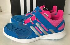 New adidas HYPERFAST K 2.0 Blue/Pink Easy On&Off Girls' Athletic Shoes-Choice