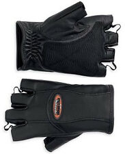 "Harley Davidson Women ""Willie G"" Fingerless Leather Motorcycle Gloves NEW W/TAG"