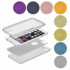 Full Pouch Protective Case Transparent Cover TPU Glitter 360 Degree