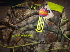UNDER ARMOUR INFRARED MOSSY OAK CAMO COMPRESSION FIT MOCK SHIRT L MEN NWT $74.99