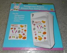 Happy Easter Refrigerator Magnets, Bunny, Chick, Flowers, Eggs