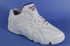 Reebok Women's Sport Shoes Lace up Tennis shoes Real leather White NEW