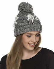 New Ladies Chunky Ribb Knitted Fashion Warm Winter Beanie Style Hat With Sequins