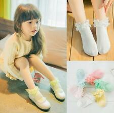 Breathable New Comfortable 6 Pairs Socks Lace Bowknot Pure Cotton Baby Socks