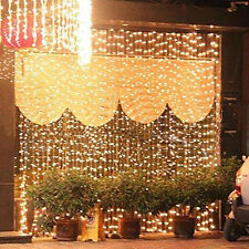 600 LED Fairy Curtains String light Christmas Wedding Decoration Light 6M*3M