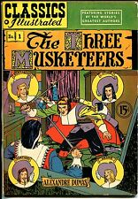 Classics Illustrated #1 HRN 78-Gilberton-Three Musketeers-Canadian-FN/VF