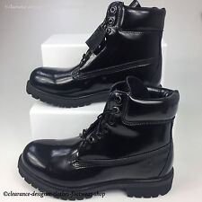 TIMBERLAND 6 INCH PREMIUM BOOTS GLOSS BLACK MENS SPECIAL EDITION SHOES RRP £180