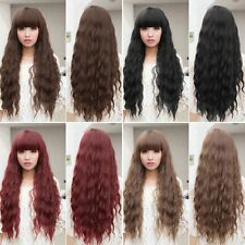 Beauty Womens Lady Long Curly Wavy Hair Full Wigs Cosplay Party D#BP