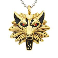 Mens Vintage Stainless Steel Wolf Animal Head Pendant Necklace Chain Gift