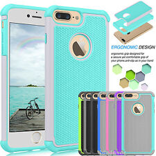 Ultra Thin Shockproof Bumper Rubber Hard Case Defender Cover for Apple iPhone