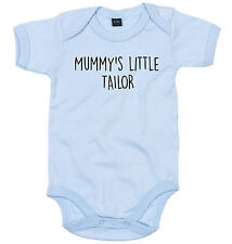 TAILOR BODY SUIT PERSONALISED MUMMY'S LITTLE BABY GROW NEWBORN GIFT