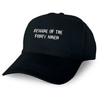 BEWARE OF THE FORTY NINER PERSONALISED BASEBALL CAP FORTY NINER XMAS GIFT CUSTOM