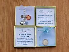Silver Sixpence. Bride good luck charm. Bridal bouquet charm. Old, new, borrowed