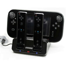 Charger Docking Station +2x Battery Pack For WII & WII U Remote Gamepad