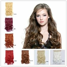 "Clip In On Hair Hairpiece 22"" Lady Curly Wavy Heat Long Hair Extensions Cosplay"
