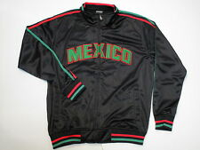 Original Deluxe mens black long sleeve zip up Mexico embroidery track jacket