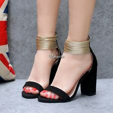 Multi Layers Ankle-Strap Peep Toe High Heels Sandals UTAR02
