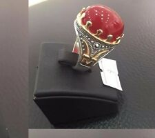 STERLING 925 SILVER HANDMADE MENS JEWELRY & AGATE MENS RING