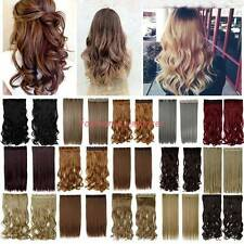 100% Thick One Piece Real Clip in Hair Extensions 3/4 Full Head Good Hairpiece
