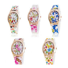 New Women Fashion  1Pcs Floral Girls Watches Jelly Watch Silicone Sports Quartz