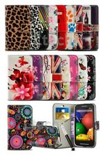 LG Tribute 5 / LS675 - Fresh Printed Pattern Creative Wallet Case Cover &Ret Pen