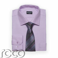 Boys Lilac Shirt Tie set for Formal Prom Confirmation Pageboy Wedding Suits