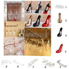High Heel Wine Bottle Holder/ Red Wine Glass Cup Stemware Organizer Rack Shelf