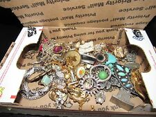 Vintage LOT Junk Drawer Jewelry NOT RESEARCHED / TESTED Harvest Repair Wear #85