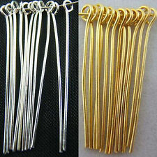 Fashion Silver/Plated Gold Plated Eye Pins Needles Jewelry Findings 6 Sizes Hot