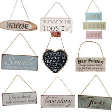 MagiDeal Vintage Wooden Board Hanging Plaque Sign Wall Door Home Decor Gifts