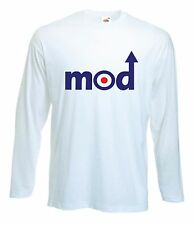 MOD LOGO LONG SLEEVE T-SHIRT - The Jam Who Paul Weller Ska Soul Scooter Target