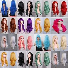 70cm Long Straight Wavy Cosplay Anime Carnival party Wig heat resistant 14 Color