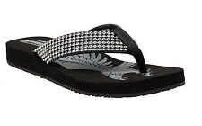 NEW Womens Ride Tecs Jeweled Thong Flip Flop Casual Comfort Low Sandal 8590 BLK