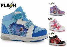 Character Light Up Infant Hi Tops Shoes Trainers Kids Girls ~Sizes C4-2 EU 20-34