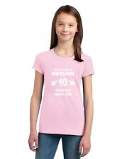 This Is What an Awesome 10 Year Old Looks Like Girls' Fitted Kids T-Shirt Gift