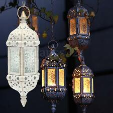 Metal White Moroccan Castle Votive Candle Lantern Holder Wedding Centerpieces