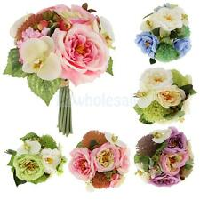 Artificial Fake Peony Silk Flower Bridal Hydrangea Wedding Party Garden Decor