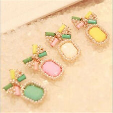 Stud Stud Earring 1Pair Pearl Bow Elegant Color Earrings Candy Fashion Gem