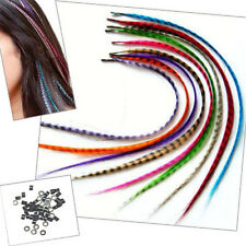 Feather Hair Extensions Kits with Synthetic Feathers, Beads, Pliers&Hook