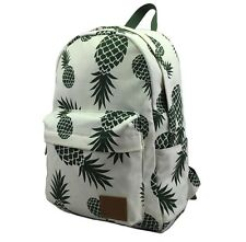 New women canvas backpacks Pineapple Print School Book Bag Backpack travel bags