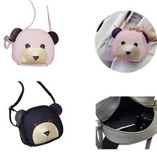 1Pcs Girl's Cute bear face Women Shoulder Bag Handbags 2017 PU Leather
