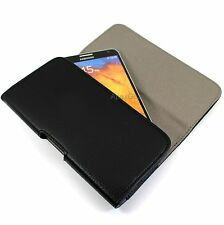 Universal Fit Faux Leather Horizontal Pouch Belt Clip Holster Case For LG Phones