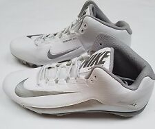 Nike Mens Speedlax 5 Lacrosse Cleats White / Silver 807143-100 Size 9, 10, 10.5