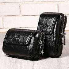 Men Genuine Leather Fanny Waist Bag Cell/Mobile Phone Coin Purse Belt Bum Pack