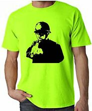 BANKSY RUDE COPPER NEON T-SHIRT - Police Cops - Choice Of Colours FREE P&P