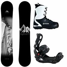 2017 System Timeless w/ LTX Rear Entry Bindings Mens Complete Snowboard Package