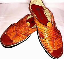 Huarache Mexican TRADITIONAL Sandals Leather Rubber Tire Sole Open Toe Pachuco