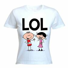 LOL T-SHIRT - Laugh Out Loud Funny Text Language Facebook Twitter - Sizes S-XL